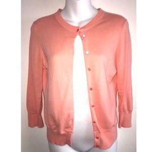 J Crew Pink Cardigan Sweater Size Small